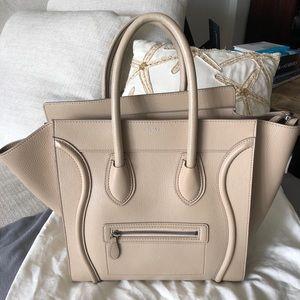 Celine Mini Luggage Bag - Dune Beige